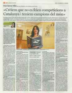 entrevista publicada el 11/11/2014 pel setmanari Alt Empordà